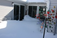 Snow drift on patio