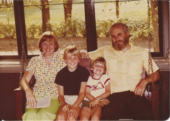 family on swing 1977