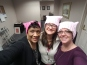 Pink Hats - Staff Heads, Resident Knit Hats