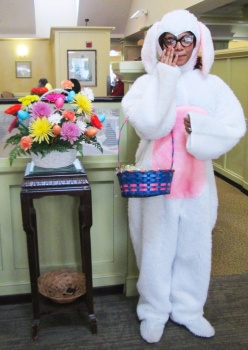 Easter bunny at brunch