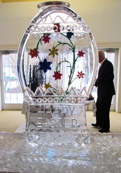 Ice Sculpture and Seafood Bar